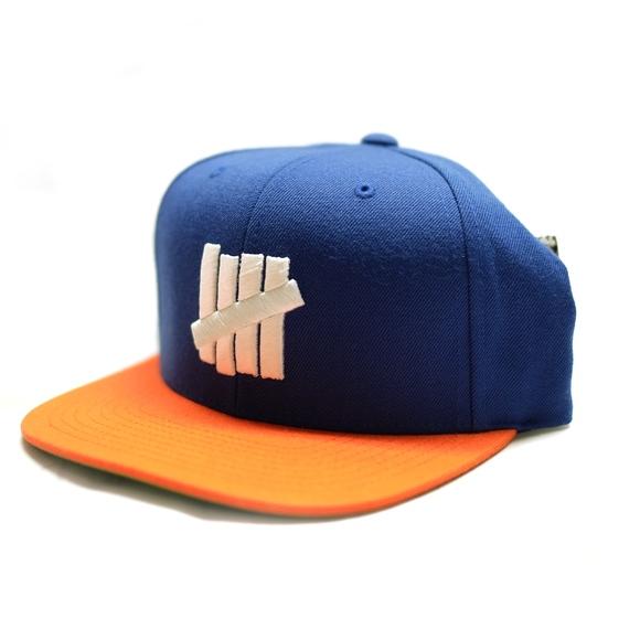 54b10de4 UNDEFEATED Accessories | 5 Strike Blue Orange Snapback Hatcap | Poshmark